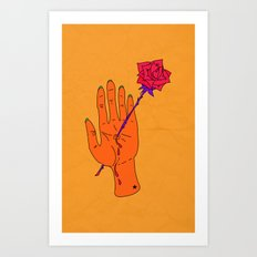 Wounded Hand - Golden yellow Art Print