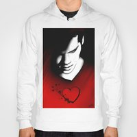 stiles Hoodies featuring Black Heart - Stiles by xKxDx