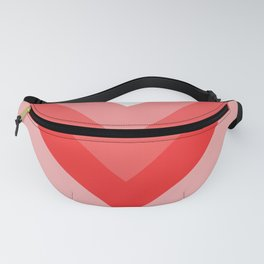 Red and Pink Chevrons Fanny Pack