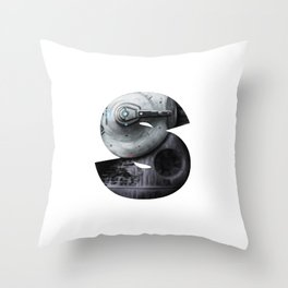 Geek letter S Throw Pillow