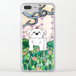 Cameo the Dog on a Hill Clear iPhone Case