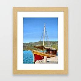 Sailing in Croatia Framed Art Print