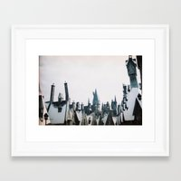 hogwarts Framed Art Prints featuring Hogwarts by Thad Kopec