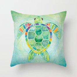 Shanti Sparrow: Byron the Turtle Throw Pillow