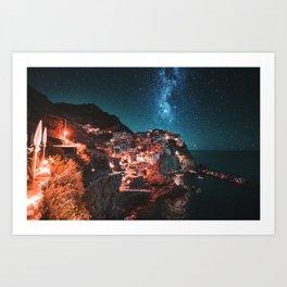manarola by night Art Print