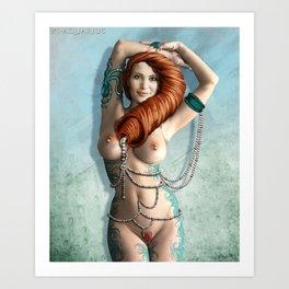 XI-Aquarius Art Print