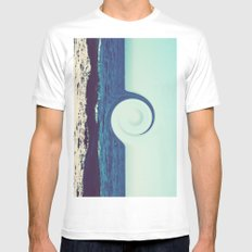 Ocean and Sky MEDIUM White Mens Fitted Tee