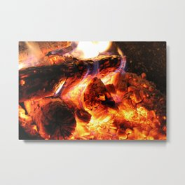 Campfires and Hot Cocoa Metal Print