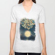 The Rising Moon Unisex V-Neck