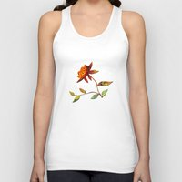andreas preis Tank Tops featuring Sunflower Abstract by Klara Acel