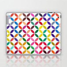 abstract round shapes background circle geometry illustration Laptop & iPad Skin