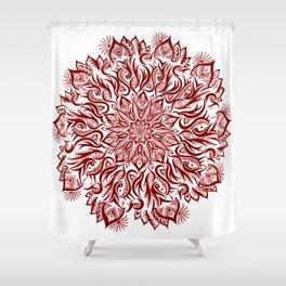 Fire-Garnet Shower Curtain
