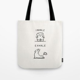 Inhale Exhale Bunny Tote Bag