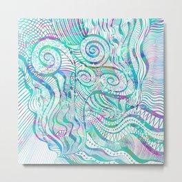 Water Colour Doodling Metal Print