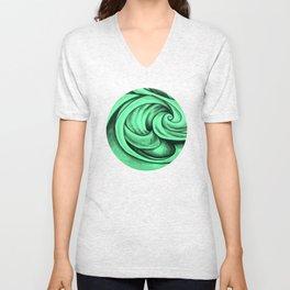 Swirl Circle (green) Unisex V-Neck