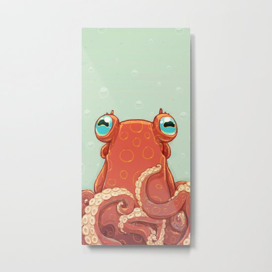 Goldie the Octopus Metal Print