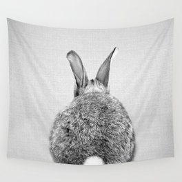 Rabbit Tail - Black & White Wall Tapestry