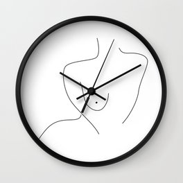 Sexual Figure Lines Wall Clock