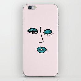 Light Pink & Teal Vampy Vixen iPhone Skin