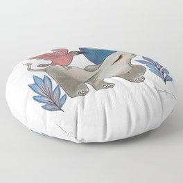 Save the Elephants Floor Pillow