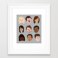 parks and rec Framed Art Prints featuring Parks and Rec by Emma Ehrling