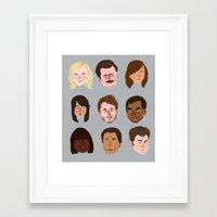 parks Framed Art Prints featuring Parks and Rec by Emma Ehrling