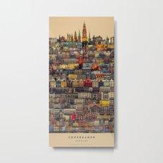 Copenhagen Facades Metal Print