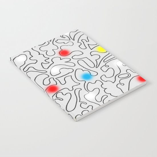 Puzzle with Spraypaint - Primary Colors Notebook