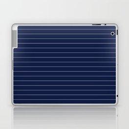 Navy Blue Pinstripe Lines Laptop & iPad Skin