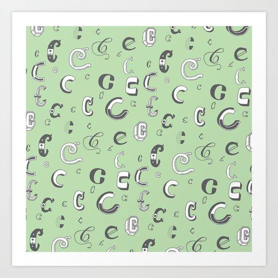 Letter Patterns, Part C Art Print