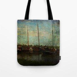 Historical Harbor Woudrichem The Netherlands Tote Bag