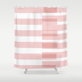 Big Stripes in Pink Shower Curtain