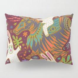 Three Rabbits and a Unicorn Pillow Sham