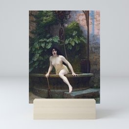 TRUTH COMING OUT OF HER WELL TO SHAME MANKIND - JEAN-LEON GEROME Mini Art Print
