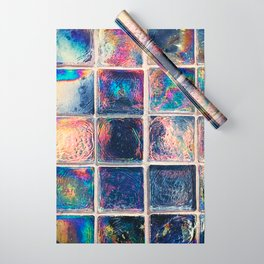 Iridescent Squares Wrapping Paper
