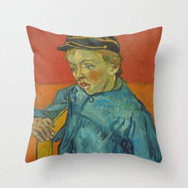 The Schoolboy (Camille Roulin) Throw Pillow