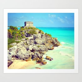 TULUM BEACH OF PARADISE IN MEXICO Art Print