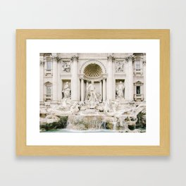 making a wish at the trevi fountain Framed Art Print