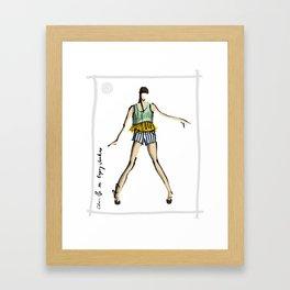 Chanelle in Gypsy Junkies Framed Art Print