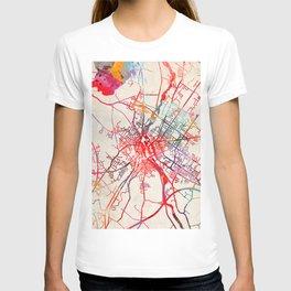 Lewiston map Maine ME T-shirt