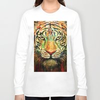 tiger Long Sleeve T-shirts featuring Tiger by nicebleed