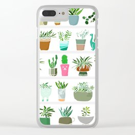 Plants on shelves. Clear iPhone Case