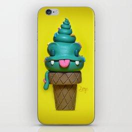 Happy ice cream cone iPhone Skin