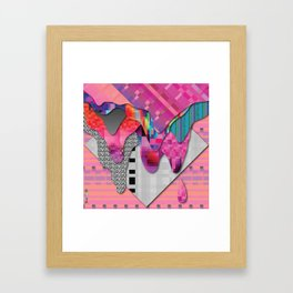 drippy pink Framed Art Print