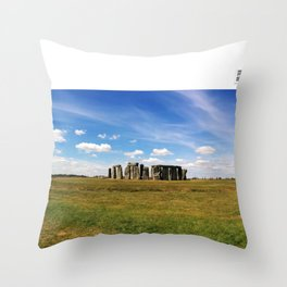 Stonehenge in summer Throw Pillow