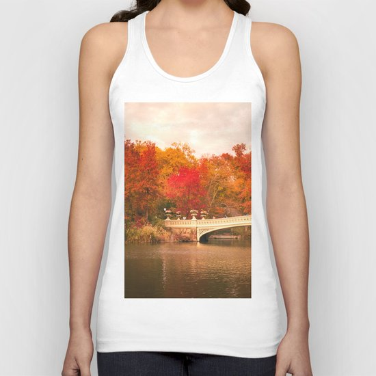 New York City Autumn Magic in Central Park Unisex Tank Top