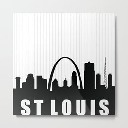 St. Louis Skyline Metal Print