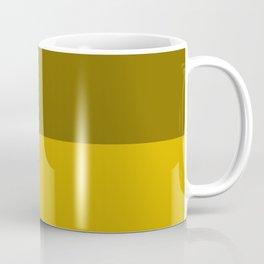 Yellow Horizontal Stripes Design Coffee Mug