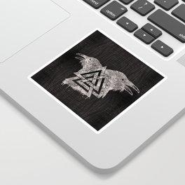 Valknut Symbol and Raven Sticker