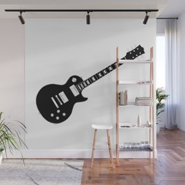 Black Guitar Wall Mural